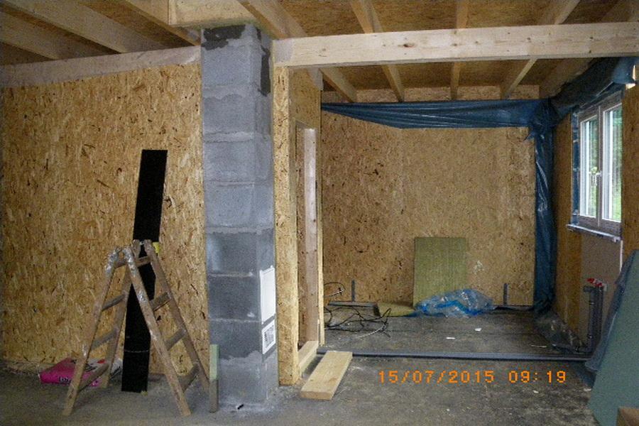 hrubá stavba interiér