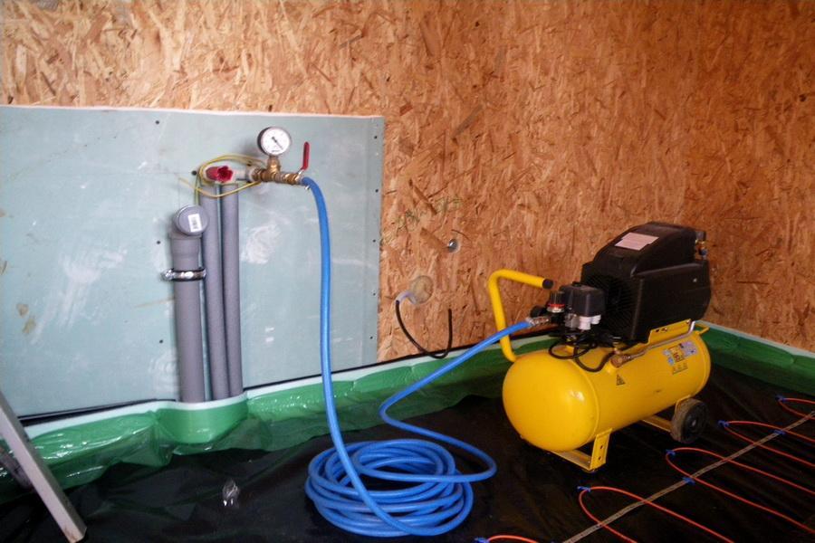 tlaková skúška rozvodov vody