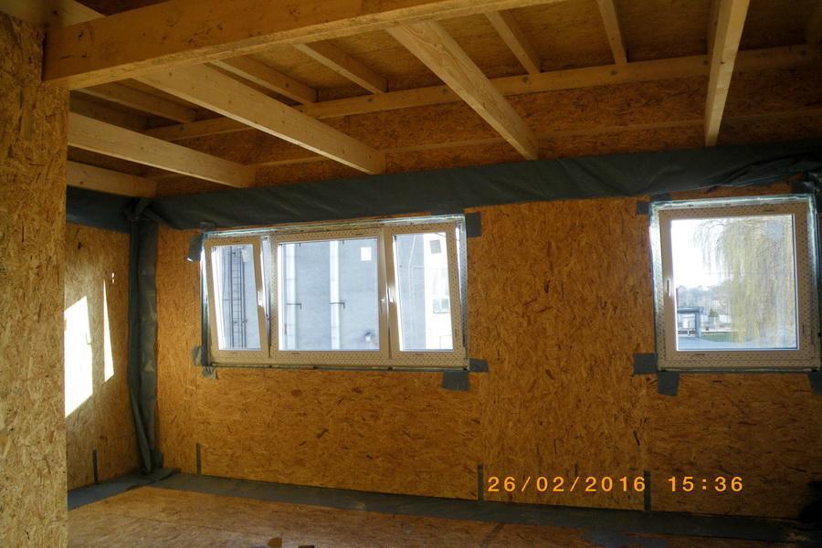 pohľad interiér strop , plochá strecha