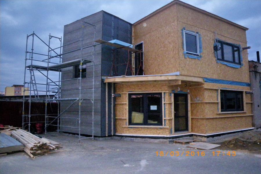 montáž odvetranej fasády
