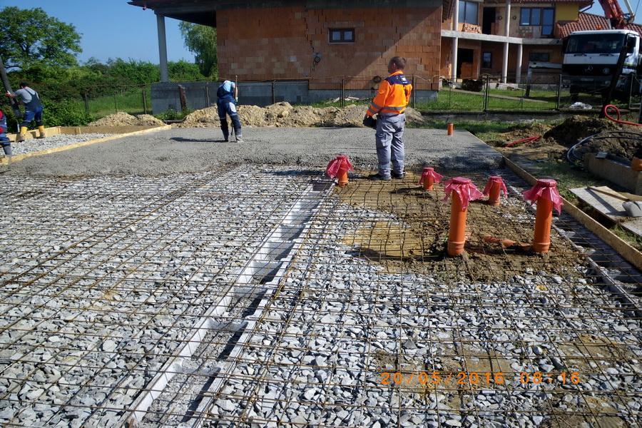 betonáž základovej dosky