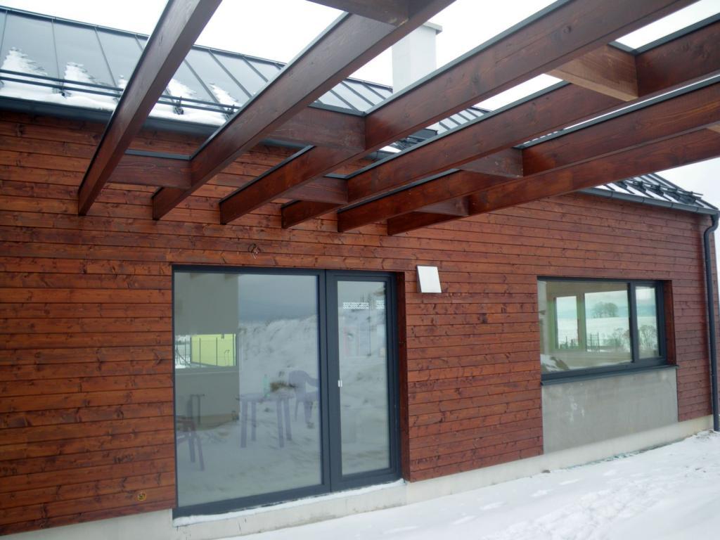 drevená odvetraná fasáda