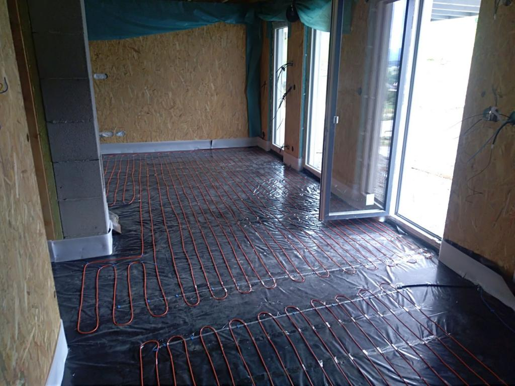 montáž podlahového kúrenia